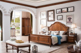 Jeu de chambre à coucher américain de type de pays de modèle de meubles neufs en bois solide (AD813)