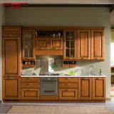 Armadio da cucina di legno della cucina della mobilia del teck solido olistico di disegno (GSP5-048)