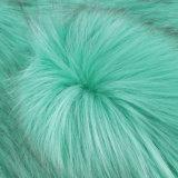 Macが付いているアクリルの擬似毛皮ののどの毛皮の人工毛皮の長いパイル生地の毛皮