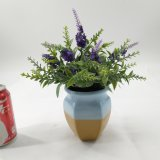 Mini plantas Potted artificiales con lavanda