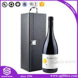 Singolo contenitore di regalo di cuoio classico fragile del vino