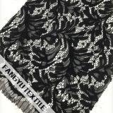 Tela densa do laço da folha para a tela do vestuário