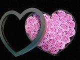 Rectángulo de regalo de la flor de papel de la dimensión de una variable del corazón del día de tarjeta del día de San Valentín del Sweety