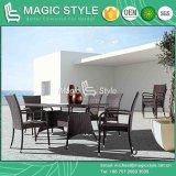 Hot Sale Chaise à manger en osier Table à manger en rotin Ensemble de salle à manger moderne Meubles extérieurs Ensemble de salle à manger Ensemble de jardin en osier