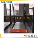 Aire de stationnement simple hydraulique de deux postes pour l'usage de garage