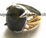 Anillo de dedo de la piedra preciosa del negro de la joyería de la carrocería de la manera (SCR2886)