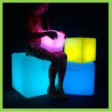 Silla al aire libre colorida del cubo de la barra del RGB LED