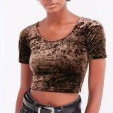 T-shirt à manches courtes en mousseline de soie slim