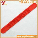 Braccialetto di schiaffo del silicone di marchio personalizzato Promontional di alta qualità