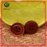 Rétro bouton de couche de bouton de procès de résine de chemise en bois de bouton