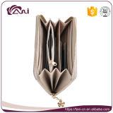 Бумажник застежки -молнии бумажника муфты PU бумажника причудливый женщин логоса металла нестандартной конструкции кожаный