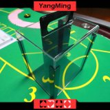 Portador de microplaqueta acrílico do póquer com bandejas - as preensões 1000 remendam as microplaquetas Ym-Tx01 do póquer do casino de 40mm