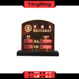 Marchio personalizzato limite elettronico dedicato Ym-LC02 di scommessa della Tabella della mazza del casinò del segno di limite della Tabella dei giochi LED della Tabella del Baccarat