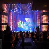 Heet verkoop P4mm Hoogte verfrissen Binnen LEIDENE van de Kleur LEDs van het Tarief SMD2121 het Zwarte Volledige Scherm van de Vertoning