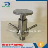 Tipo válvulas embridadas de la maneta del acero inoxidable Dn15 de la muestra