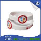 Bracelet de silicones personnalisé par qualité en gros pour des cadeaux de décoration