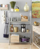 New DIY 4 Shelf Steel Wire Shelving Rack Tier Nice Storage para Casa