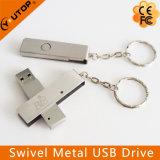 주문을 받아서 만들어진 로고 자전 금속 USB 플래시 디스크 (YT-1208)