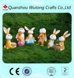 Figurines belli del coniglio della nuova dei punti della resina della statua decorazione animale del giardino