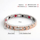 Aço inoxidável Bio Element Germanium Rose Gold Bracelet for Women