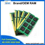 Память RAM Pin компьтер-книжки DDR3 SODIMM 8GB 204