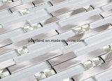Aluminiummosaik-Fliesen Matel Glas deckt Dekoration-Küche Backsplash Badezimmer-Wand-Fliesen mit Ziegeln
