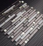 Brown mischte weißes dekoratives populäres Glassteinstreifen-Mosaik
