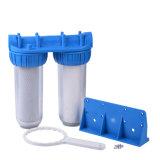 Filtro de água de 2 estágios com o cartucho dos PP & do CTO