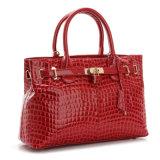Handtassen van de Totalisator van de Schouder van het Handvat van de Handtas van het Leer van het Octrooi van vrouwen de Hoogste