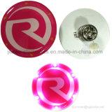 Divisa ligera de encargo de la insignia LED de la dimensión de una variable redonda para los regalos de la promoción (3569)