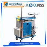 Carretilla médica Emergency del ABS del coste de la venta de la fábrica de China