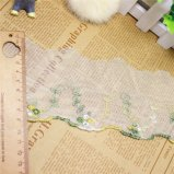 Merletto netto di nylon della maglia di immaginazione della guarnizione del ricamo del poliestere del merletto del commercio all'ingrosso 9cm del ricamo di riserva di larghezza per l'accessorio degli indumenti & tessile & tende domestiche