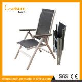 Presidenza di piattaforma piegante di alluminio del Lounger di Sunbed della spiaggia di Testilene del giardino del raggruppamento del Longe esterno della mobilia