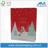 Коробка подарка рождества Dongguan оптовой Recyclable бумажной упаковки изготовленный на заказ упаковывая
