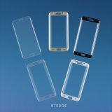 Protector de cristal móvil de la pantalla de los accesorios 3dtempered del teléfono de la impresión de seda para el borde de Samsung S7