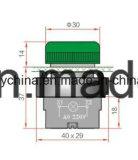 Dia22mm-La118kbv Kleuren de van de Schakelaar van de Drukknop Rode en Groene, Voltage 6V-380V
