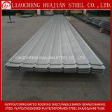 La hoja de acero acanalada del material para techos del color cubrió