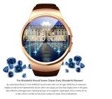 Karten-Eignung-Armbanduhr der Kw18 Bluetooth intelligente Uhr Smartwatch Telefon-UnterstützungsSIM TF