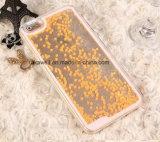 Caisse liquide annexe de sable mouvant de sable d'étoile de téléphone mobile en gros de la Chine pour l'iPhone 5/6 cas de couverture de téléphone cellulaire