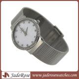 Relógio de senhoras do aço inoxidável de boa qualidade da forma do encanto