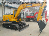 Máquina escavadora pequena amarela quente da esteira rolante da venda 8.5ton da fábrica