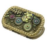 Handholdの金の空の彫版の化粧品ミラー