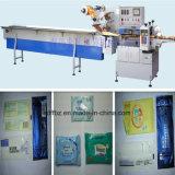 O preço de fábrica automático molhou a limpeza, máquina de empacotamento molhada da embalagem do tecido
