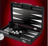 Metel Handle를 가진 15 인치 Deluxe Foldable Wooden Box Backgammon
