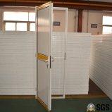 Weißes Farben-Puder-überzogene Aluminiumflügelfenster-Tür mit Aluminiumpanel kleines K06016