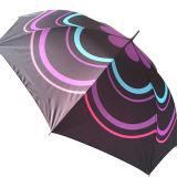 Custom Design 23 polegadas barato promocional manual Open Straight Umbrella