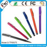 Penna a doppio scopo 2 dello stilo di colore della penna in 1 per lo schermo di tocco