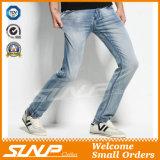 Jeans normali dello Spandex del cotone degli uomini su ordinazione di marca