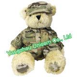 Ours de nounours militaire de soldat d'armée de peluche de jouet mou de peluche