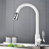 Singolo Lever Pull out White Faucet per Kitchen Use